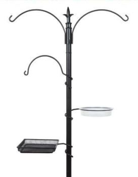 Gardman Wild Bird Feeding Station - Black 2.26m A04389
