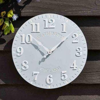 Smart Garden Westminster Garden Wall Clock - Duck Egg 12''