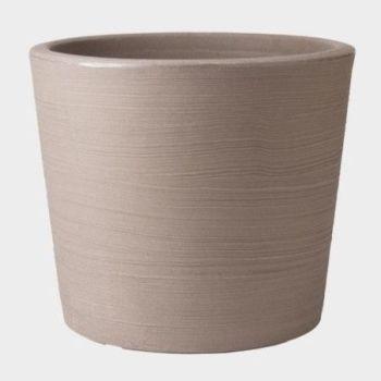 Stewart Varese Low Decorative Plastic Planter - Dark Brown 35.5cm High