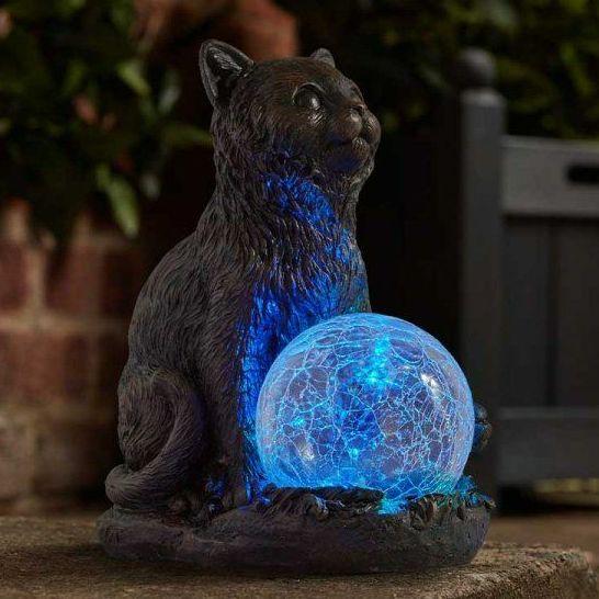 Smart Solar Mystic Mog Cat Solar Light Garden Patio Ornament