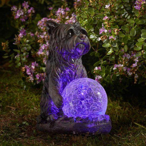 Smart Solar Mystic Dog Solar Light Garden Patio Ornament
