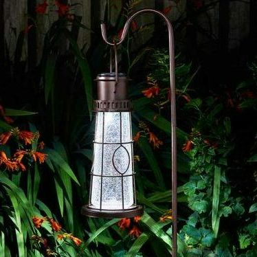 Smart Solar Lighthouse Lantern Garden Light