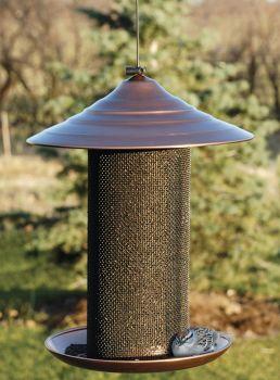 Panacea Brushed Copper Metal Nyger Seed Bird Feeder 24511