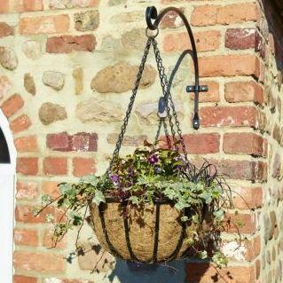 Gardman Blacksmith Metal Hanging Basket with Coco Liner  - 14'' / 35cm