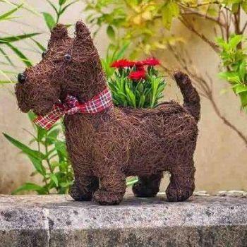 Smart Garden Scottie Dog Decorative Garden Planter