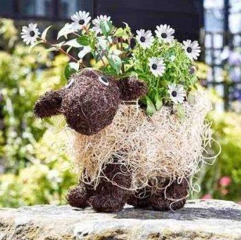 Smart Garden Shelley Sheep Decorative Garden Planter