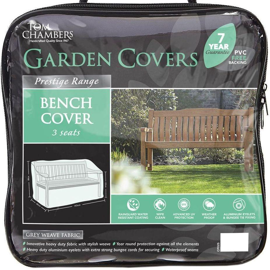 Tom Chambers 3 Seat Seater Garden Bench Cover - Prestige Range CP225