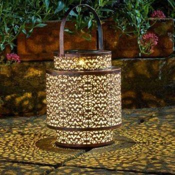Smart Solar Tangier Lantern Garden Patio Light 1080050