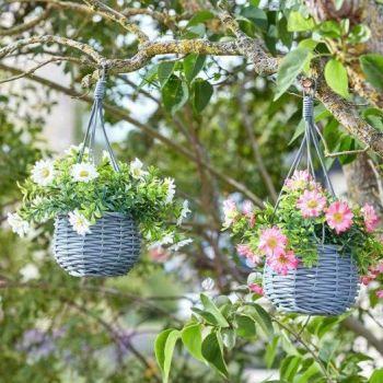 Smart Garden Basket Bouquets Meadow - Faux Decor 2 pack
