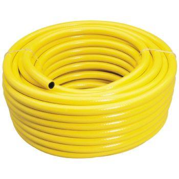 Draper 30m Garden Hose Pipe - Reinforced Yellow Hose