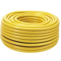 Draper 50m Garden Hose Pipe - Reinforced Yellow Hose