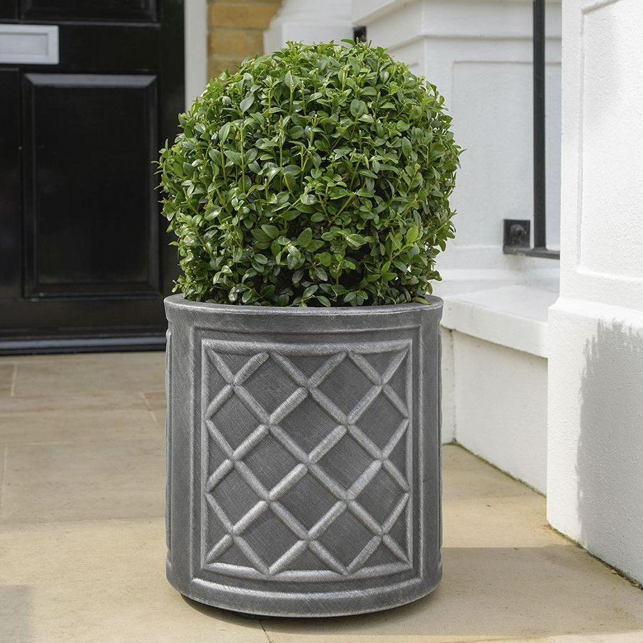 Stewart Lead Effect Round Decorative Plastic Planter  32cm