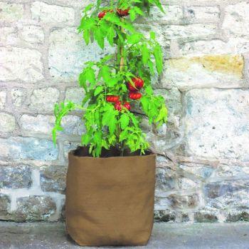 Haxnicks Hemp Fibre Patio Planters Tubs 30 Litre Compostable - 3  Pack