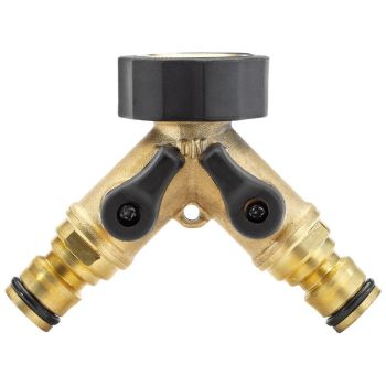 Draper Expert Brass BSP Dual Tap Connector 36228