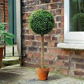 Gardman Artificial Topiary Ball Tree with Leaf Effect 80cm high
