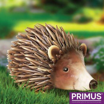 Primus  Deluxe Metal Woodland Hedgehog Animal Patio Ornament PQ1821