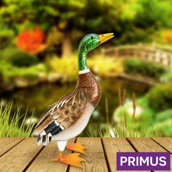 Primus Deluxe Metal Duck Mallard Bird Garden Animal Ornament