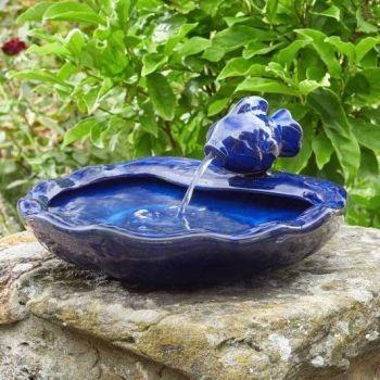 Smart Solar Ceramic Fish Fountain Water Feature