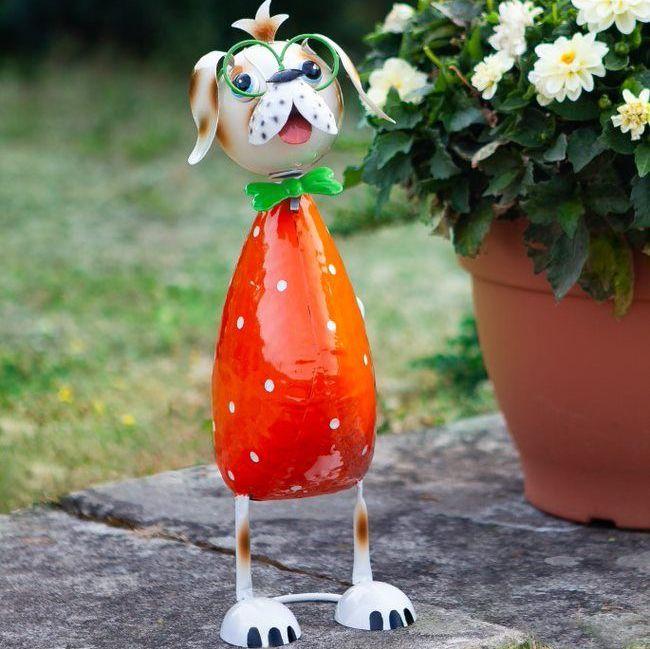 Smart Garden Floppy Dog Metal Garden Animal Ornament