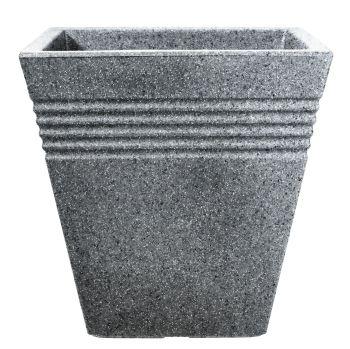 Stewart Piazza Decorative Plastic Planter - 34cm Alpine Grey