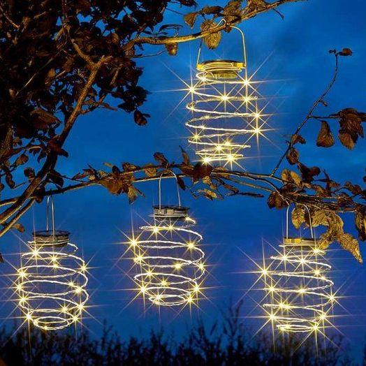 Smart Solar SpiraLight Hanging Solar Garden Lights 4pk