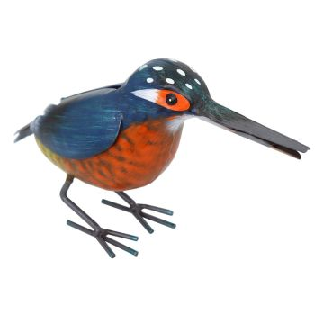 Primus Kingfisher Metal Garden Bird Ornament