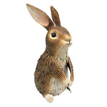 Primus Metal Inquisitive Brown Rabbit Animal Ornament