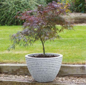 Stewart Low Honey Pot Decorative Plastic Planter - Alpine Grey 49cm dia