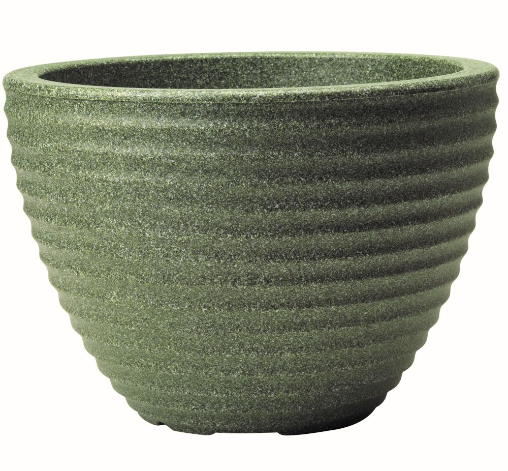 Stewart Low Honey Pot Decorative Plastic Planter - Marble Green 49cm dia