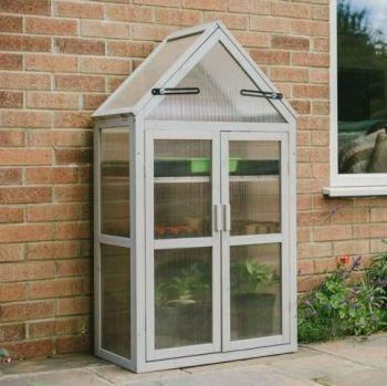 Gardman Plantpak Wooden Grow House - Dove Grey 70200425