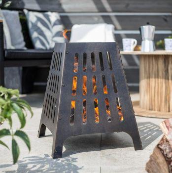 La Hacienda Anubis Steel Firebasket 58573