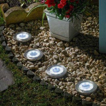 Smart Solar Up Light Garden Path Lighting - 4 pack