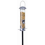 Heavy Duty Bird Feeder Pole used with a Garden Bird Feeder