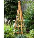 Wood Metal Garden Obelisks