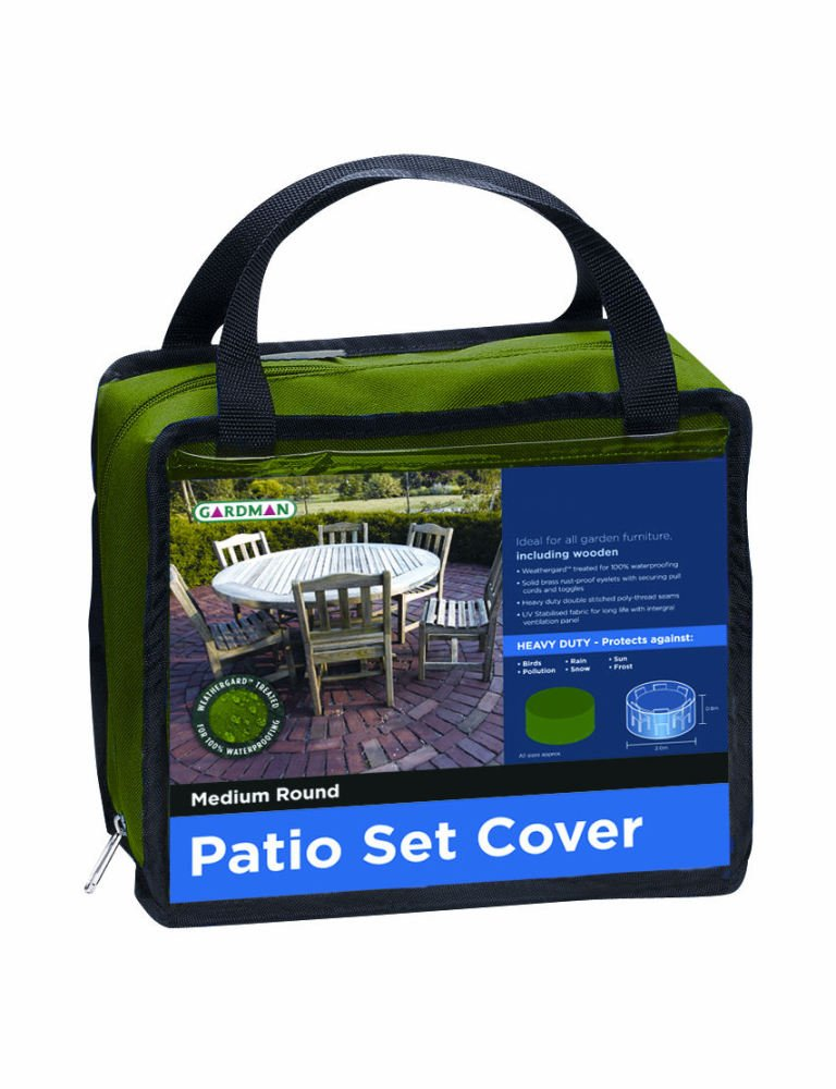 Premium Medium Round Garden Patio Furniture Set Cover