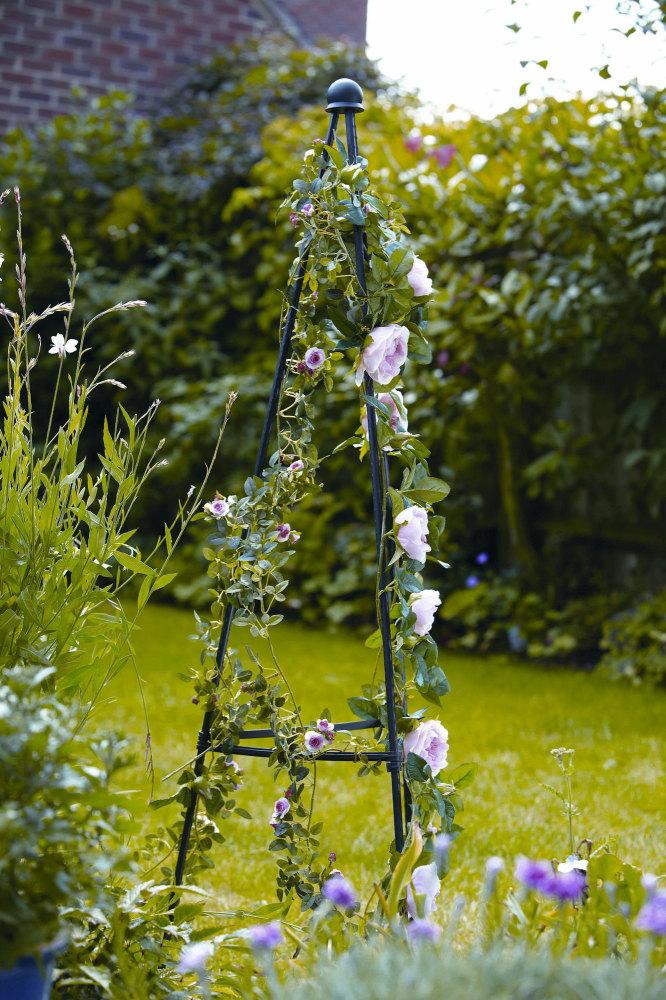 Metal Garden Obelisk - Greentree 1.5m Quick & Easy Plant Support