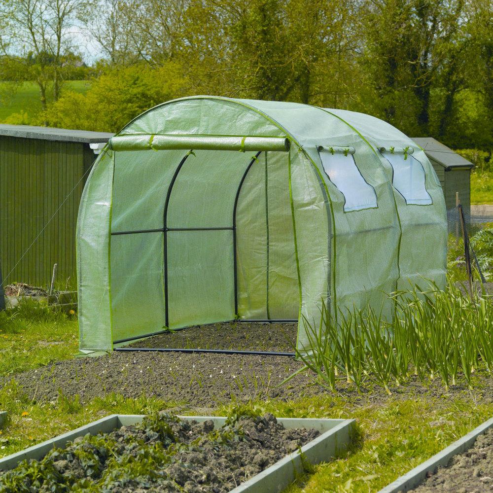 Gardman 3m Garden & Allotment Reinforced Polytunnel