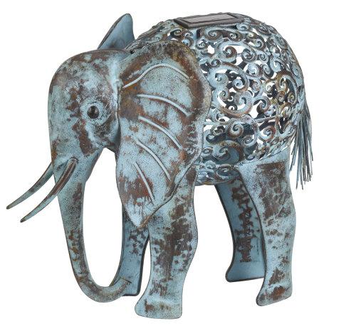 Metal Elephant Garden Solar Light - Animal Lighting Ornament