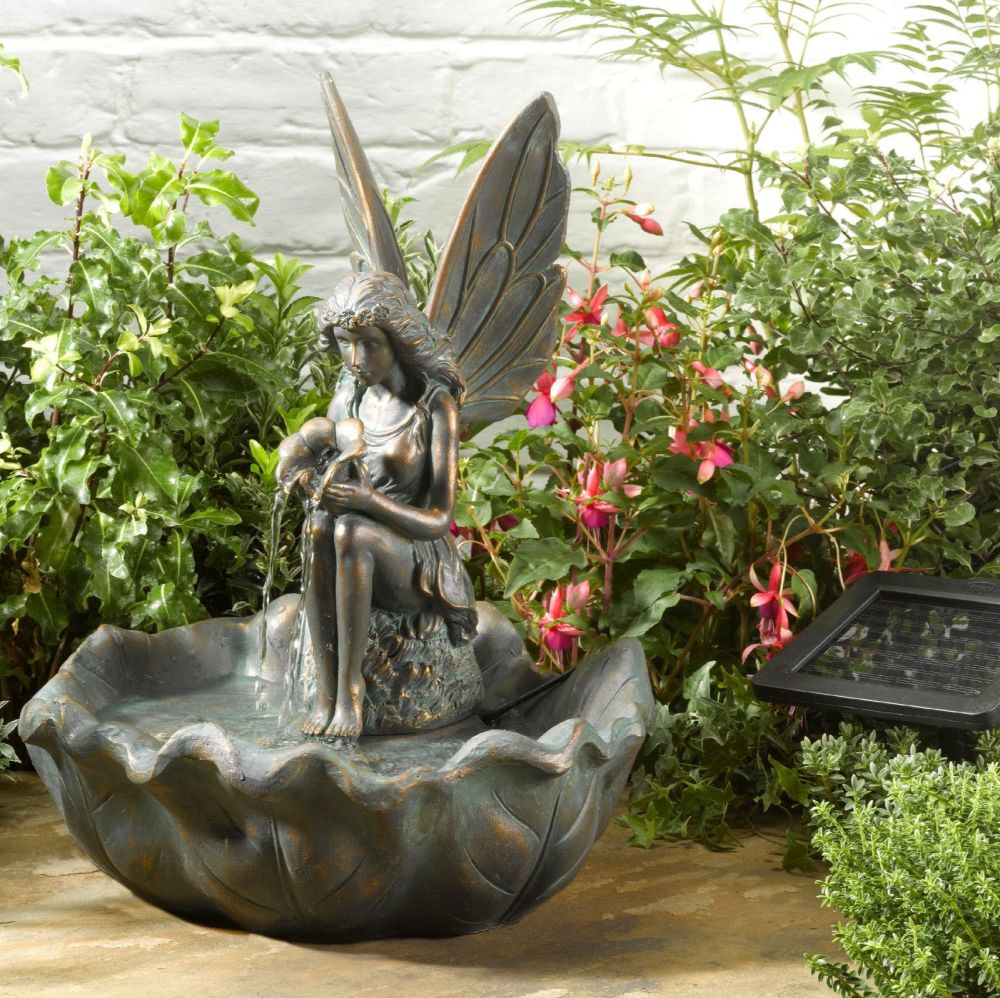 Fairy Leaf Water Fountain - Solar Powered Garden Water Feature