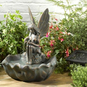 Smart Solar Fairy Leaf Solar Water Fountain Feature