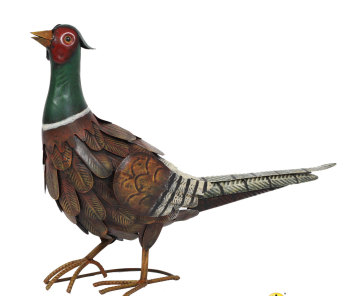 La Hacienda Regal Pheasant Metal Garden Ornament