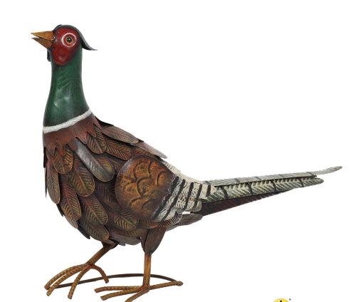 La Hacienda Regal Pheasant Metal Garden Ornament