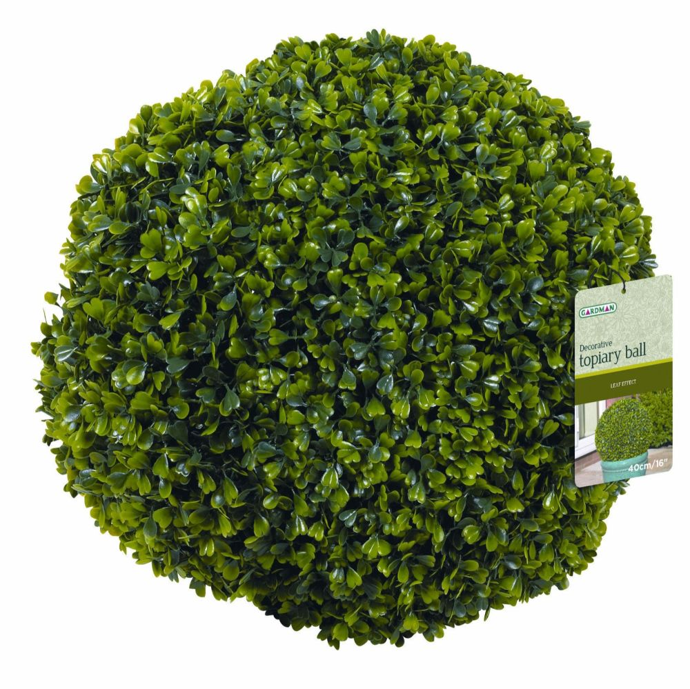 Gardman Topiary Ball with Leaf Effect Garden Plant Decoration