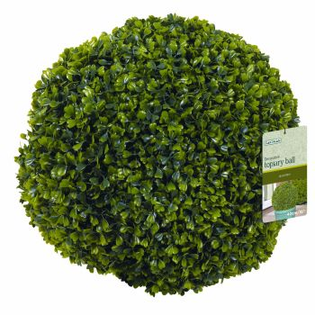 Gardman Hanging Topiary Ball Boxus Leaf Effect 40cm