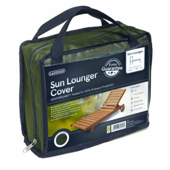 Gardman Premium HD Garden Green Sun Lounger Cover