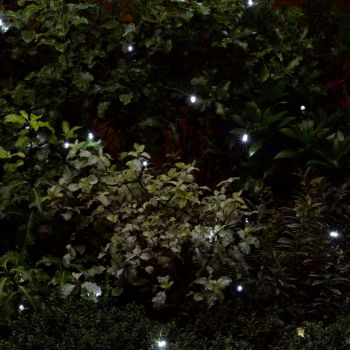 Smart Solar Garden Patio Decorative x50 White LED Light String