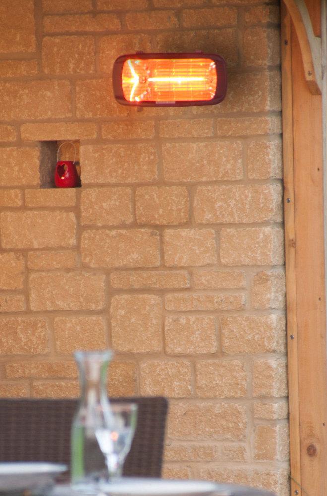 La Hacienda Heatmaster Royal 1300W Patio Heater For Garden