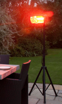 La Hacienda Heatmaster Royal 1300W Garden Patio Heater With Tripod
