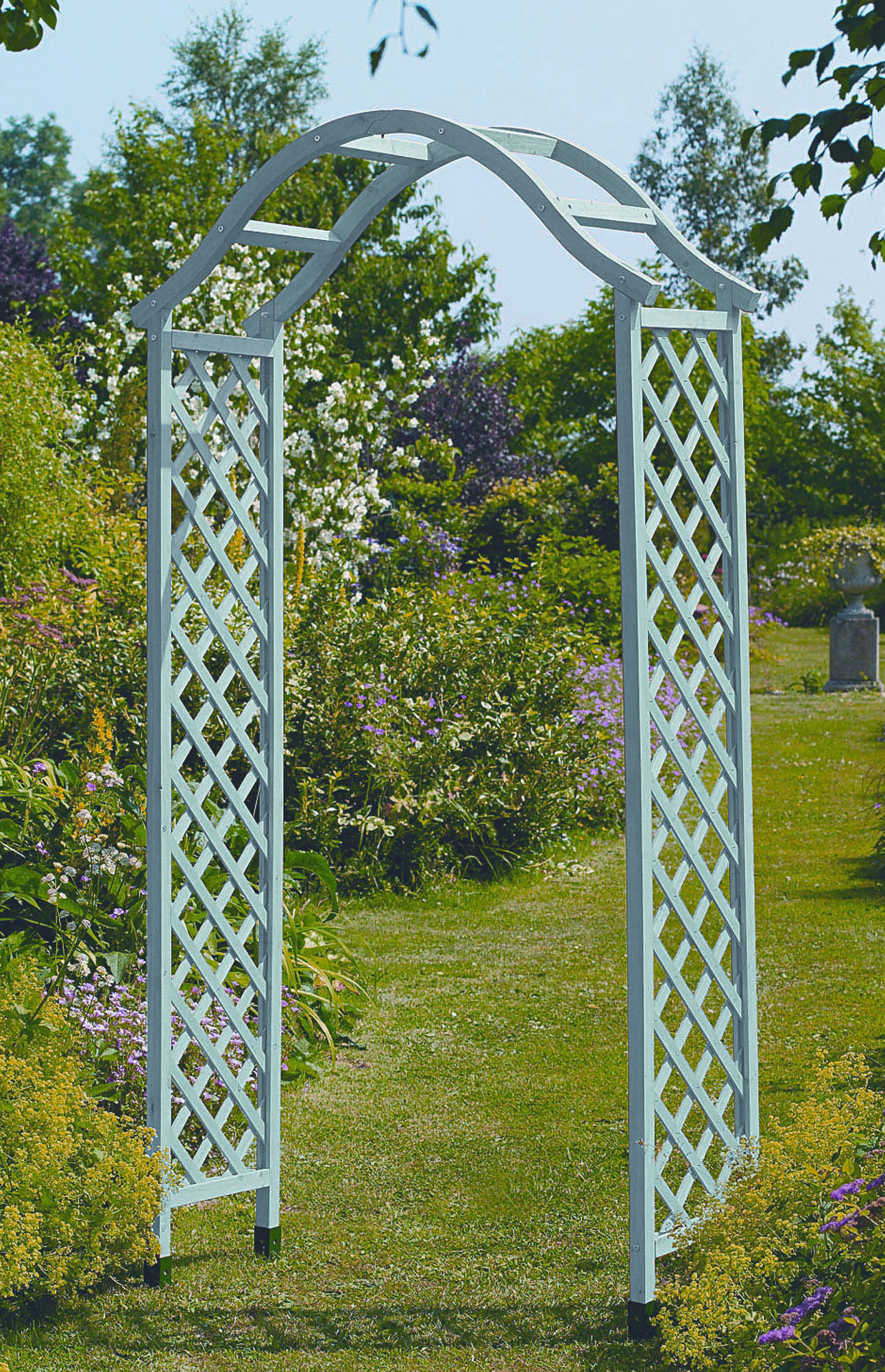Gardman sea breeze wooden arch wood arches oasis gardening ltd - Garden wood arches ...