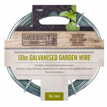 Gardman Garden Wire 50m General Purpose Galvanised Wire - 14060